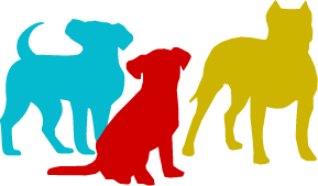 pit bull silhouettes
